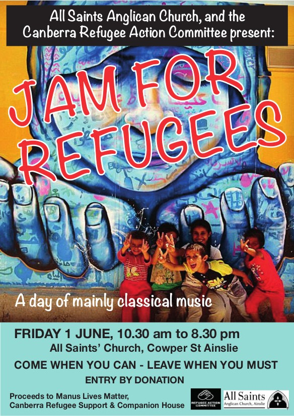 Jam for Refugees, Fri 1 June 2018