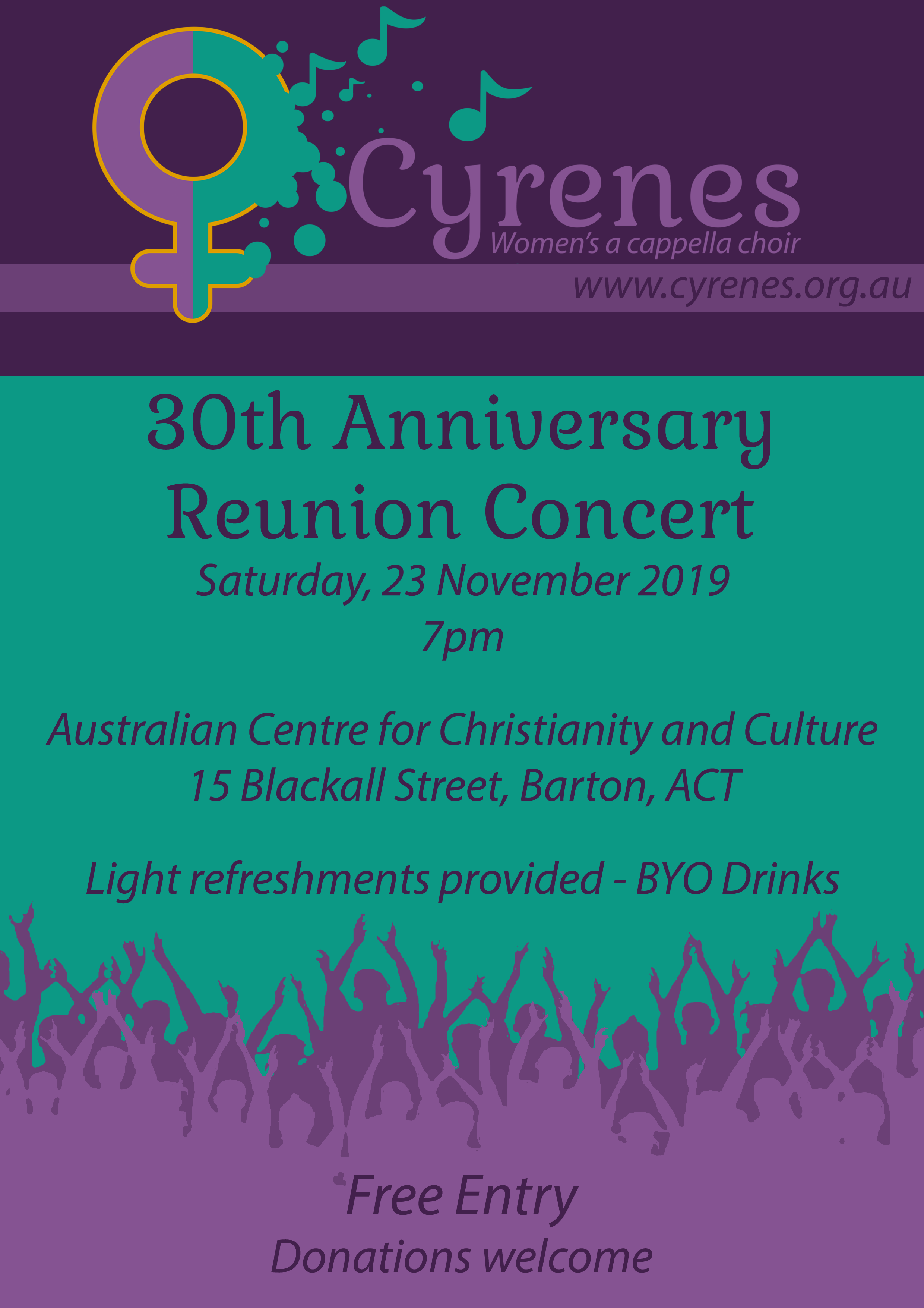 Cyrenes 30th anniversary concert